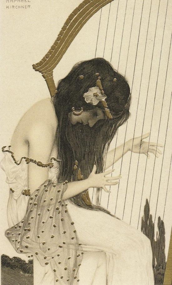 Raphael Kirchner. Greek virgin