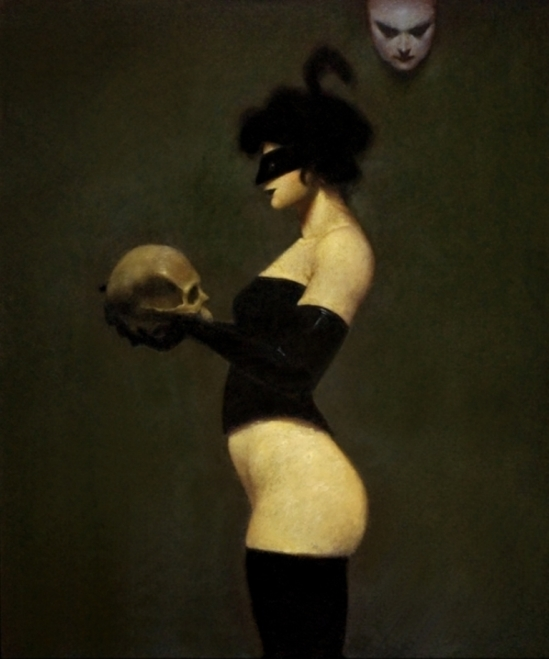 Ray Donley. Figure with mask and skull 2006