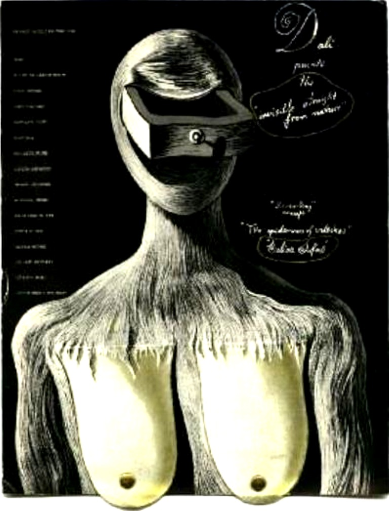 Salvador Dali. Couverture du catalogue de l'exposition Gali, New-York 1936 . Via bibliorare