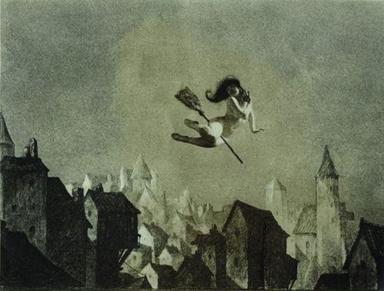 William Mortensen. Off for the Sabbot 1927. Via vice.com.jpg