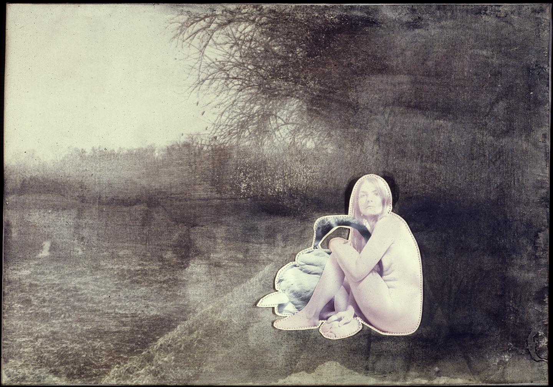 Bea Nettles. Leda and the swan 1970. Via beanettles