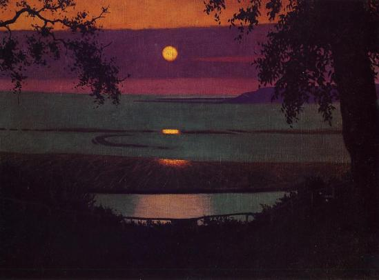 Félix Vallotton. Sunset 1918