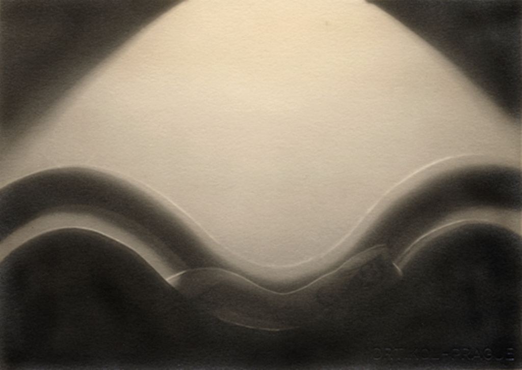 Frantisek Drtikol. Untitled (cut-out nude with wave) 1930-1935 . Via ex-chamber-memo