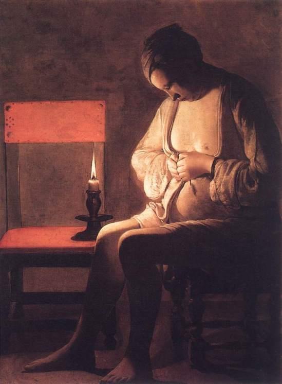 Georges de laTour. La femme à la puce vers 1638