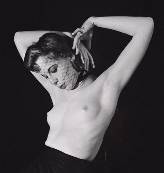 John Gutmann. Veiled nude with raised arms 1939. Via ccp-emuseum.catnet