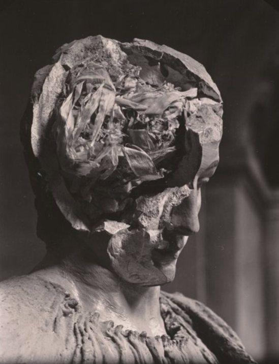 Josef Sudek. Plaster Head 1945. Via sfmoma
