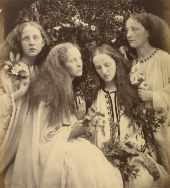 Julia Margaret Cameron. The Rosebud Garden of Girls 1868. Via getty