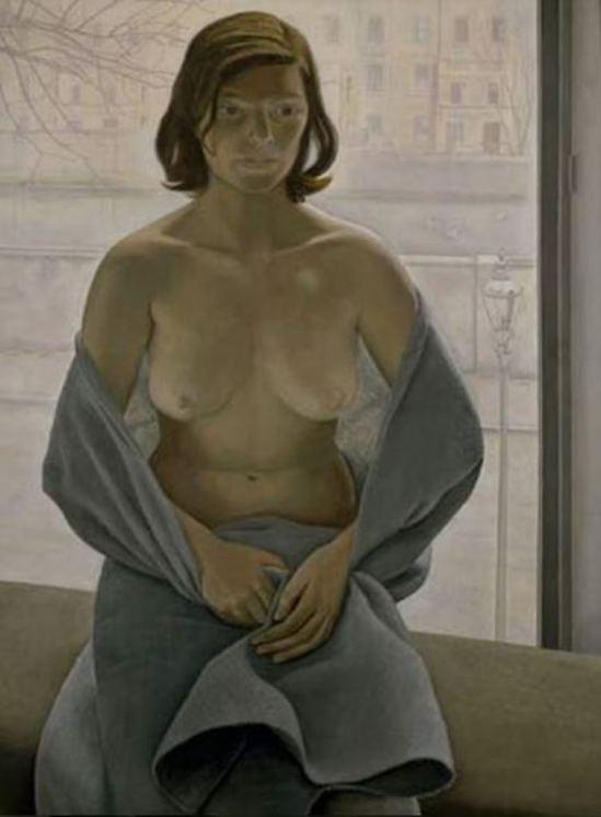 Lucian Freund. Girl a blanket 1953