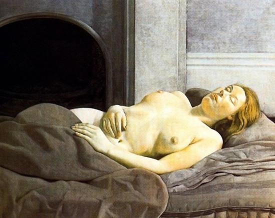 Lucian Freund. Sleeping nude