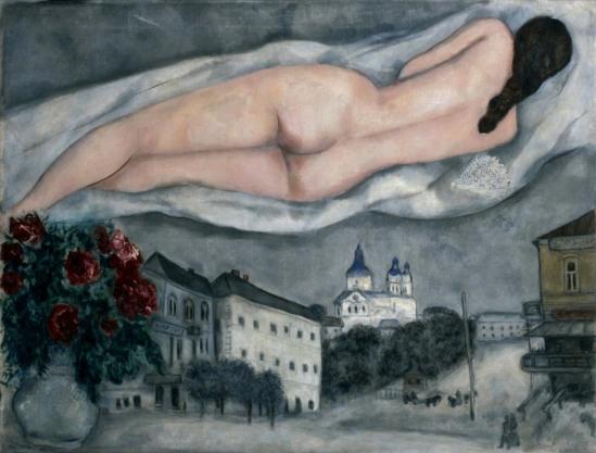 Marc Chagall. Le nu au-dessus de Vitebsk 1933