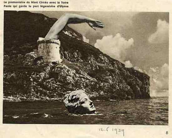 Marcel G. Lefrancq. Le promontoire du mont Circeo (1939). Via lefrancq.be
