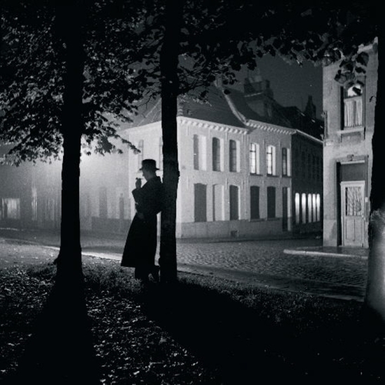Marcel G. Lefrancq. Mons Park at Night 1938. Via theredlist