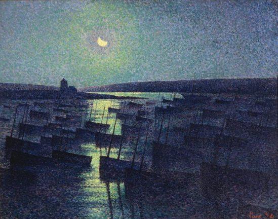 Maximilien Luce. Camaret, clair de lune et flotille de pêche 1894