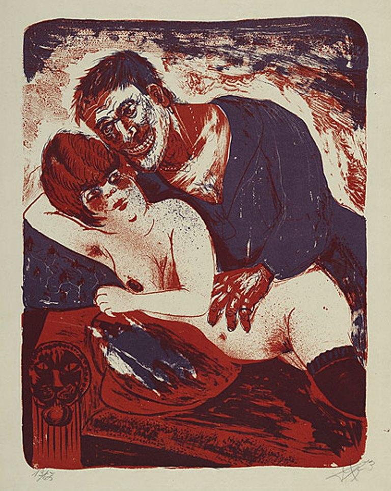 Otto Dix. Sailor and girl 1923