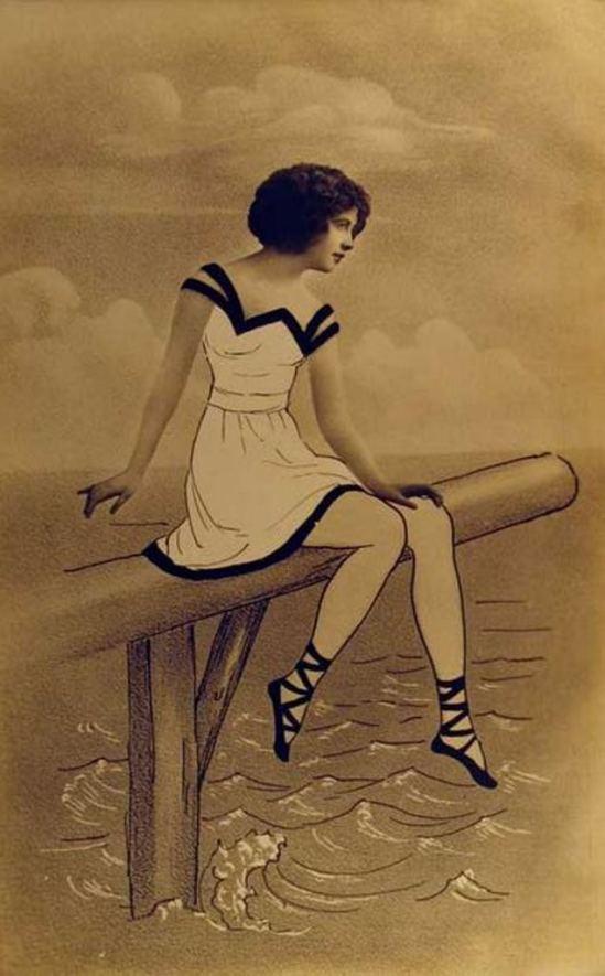 Vintage fantasy photomontage. Postcard. Via cherrylandpostcards
