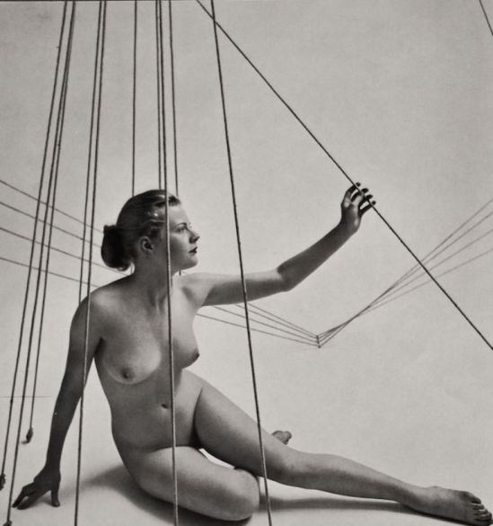 Zoltan Glass. Surreal nude  1950s. Via ebay