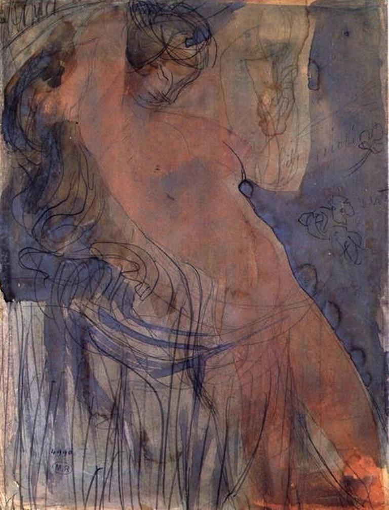 Auguste Rodin. Niobe, femme nue aux cheveux dénoués