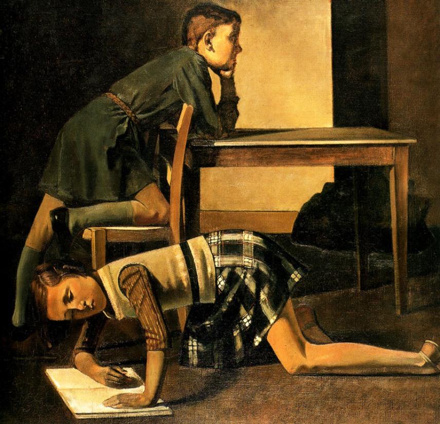 Balthus. The Blanchard children