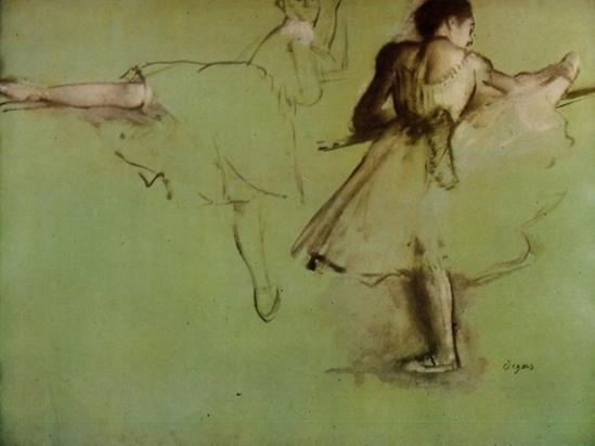 Edgar Degas. Dancers at the barre 1877
