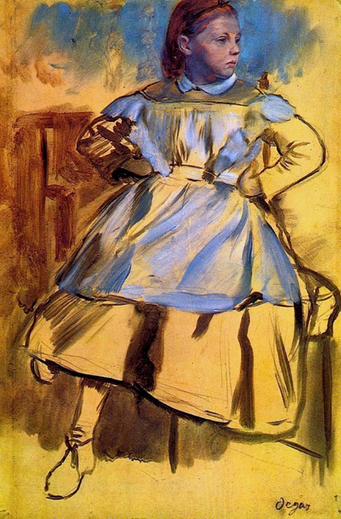 Edgar Degas. Portrai of Giulia Bellelli 1859-1860