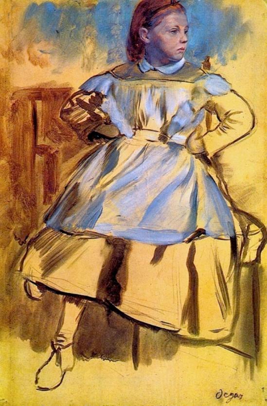 Edgar Degas. Portrai of Giulia Bellelli 1859-1860