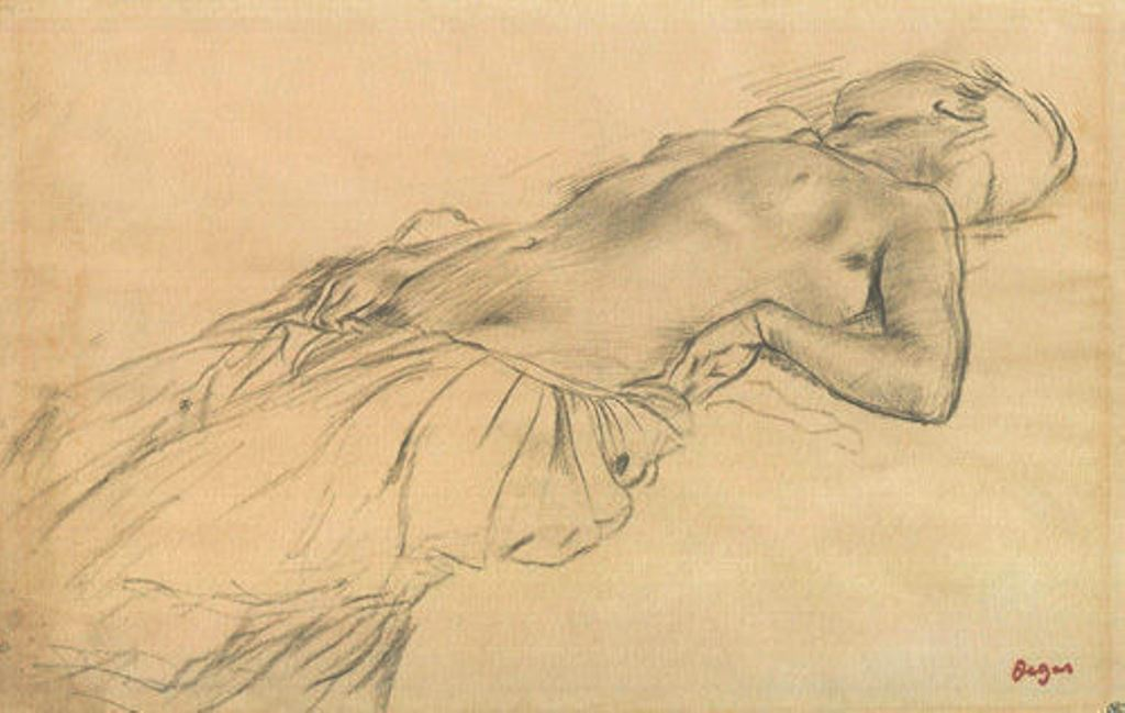 Edgar Degas. Reclining nude