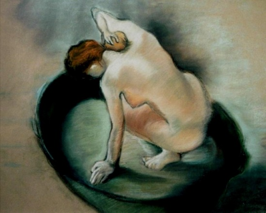 Edgar Degas. Study for the tub