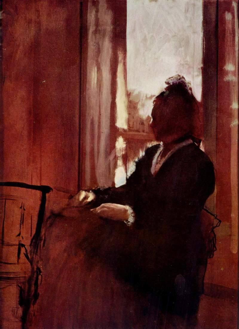 Edgar Degas. Woman at a window 1872