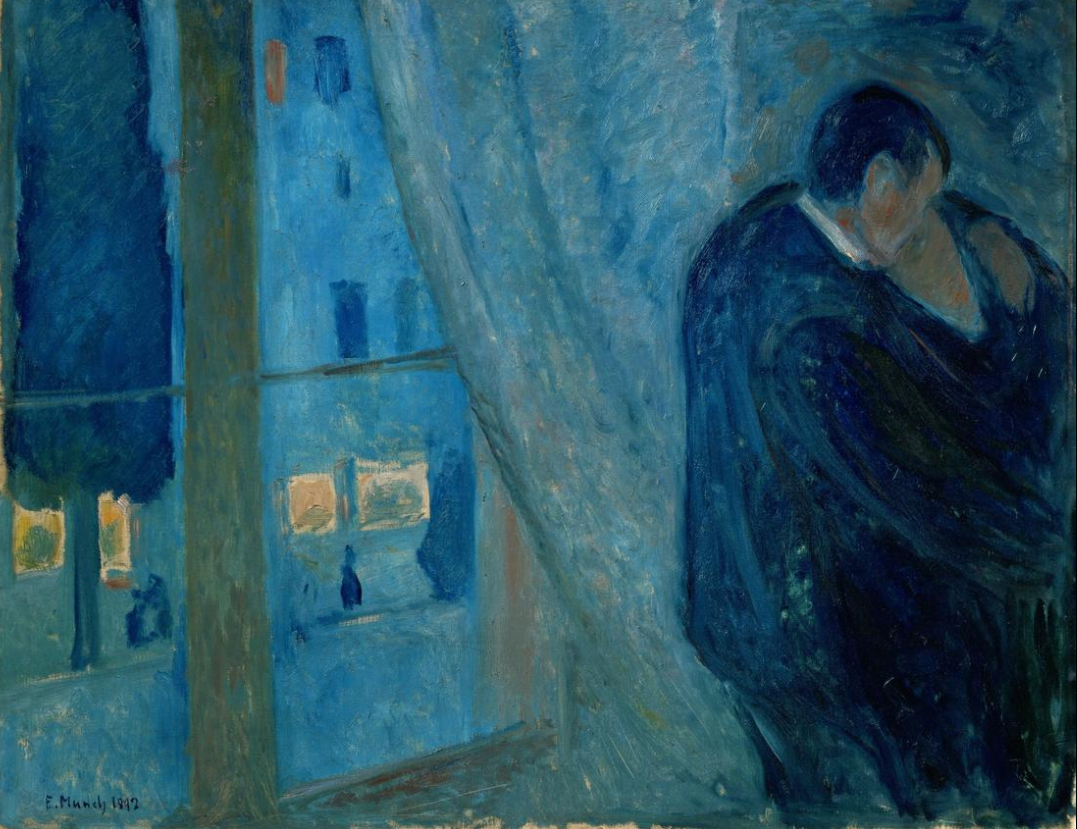 Edvard Munch. The kiss 1892