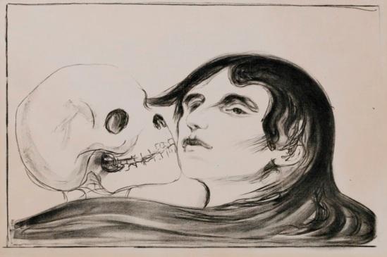 Edvard Munch. The kiss of the death 1899