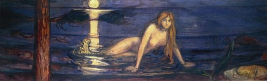 Edvard Munch. The lady from the sea 1896