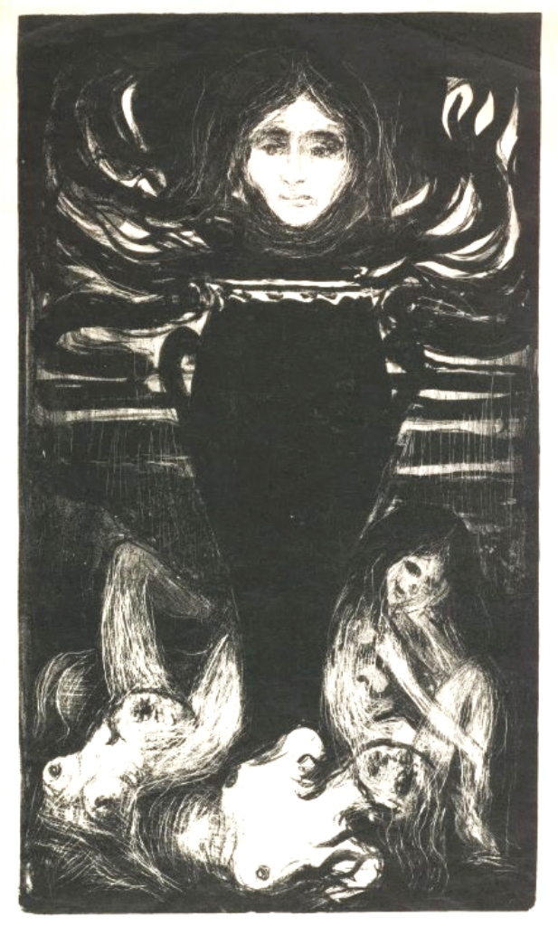 Edvard Munch. The urn 1896