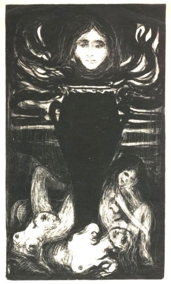 Edvard Munch. The urn 1896