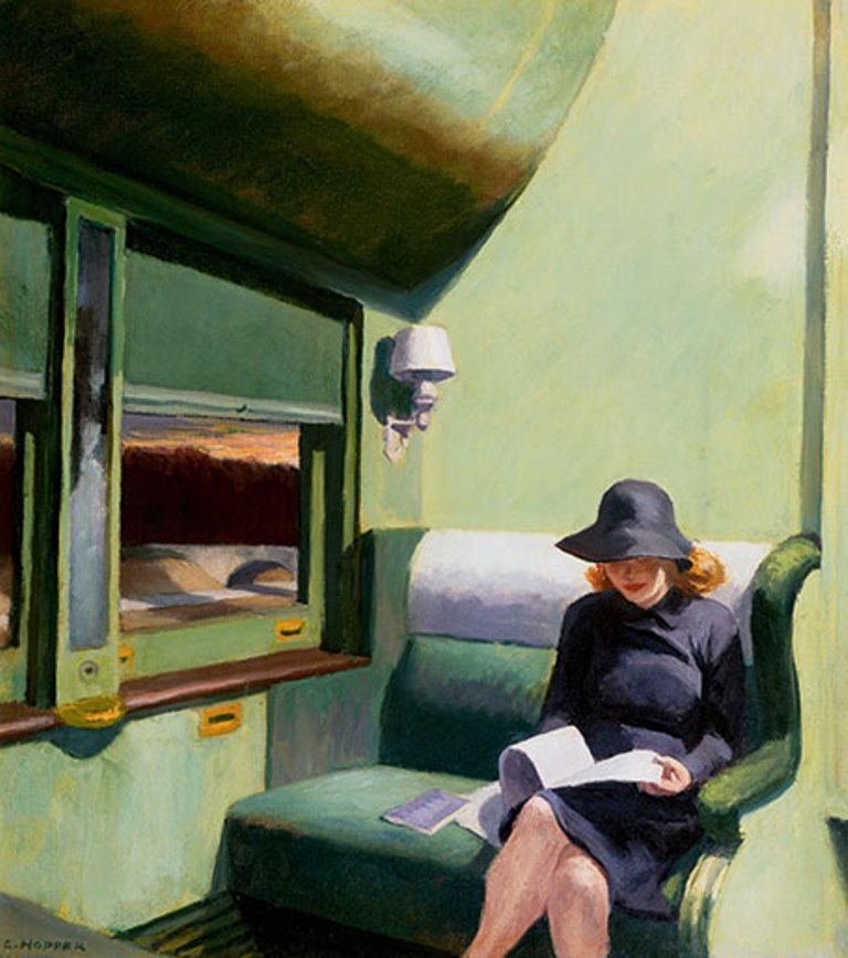 Edward Hopper. Compartiment C, voiture 293 (1938)