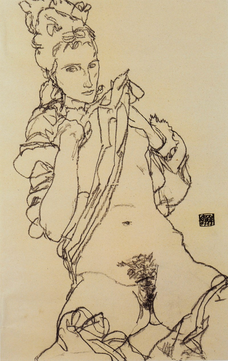 Egon Schiele. Female nude 1917