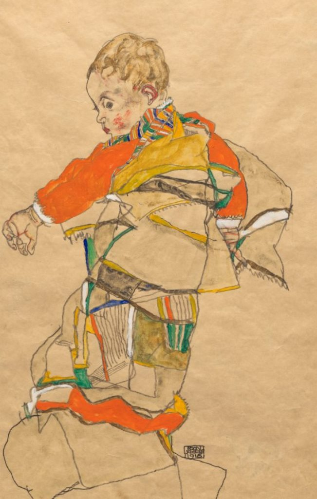 Egon Schiele. Portrait of a child (Anton Peschka, Jr.) 1916