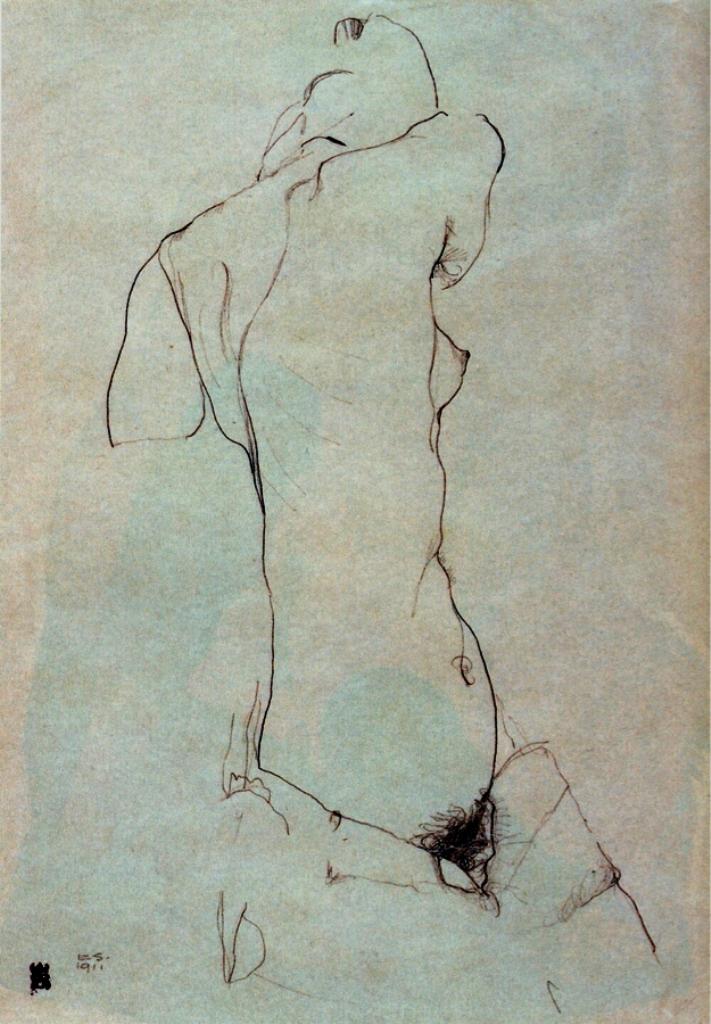 Egon Schiele. Sans titre