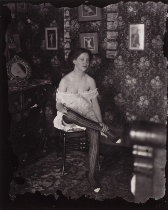 Ernest James Bellocq. Storyville portrait 1912, printed by Lee Friedlander after 1970. Via clevelandart