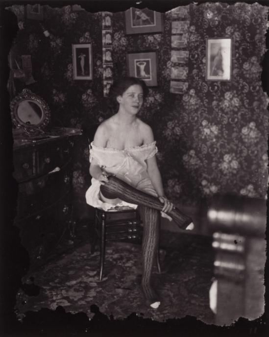 Ernest James Bellocq. Storyville portrait 1912, printed by Lee Friedlander after 1970. Via clevelandart