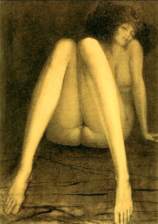 Ernst Fuchs. Repos 1976. Via jpsx on tumblr