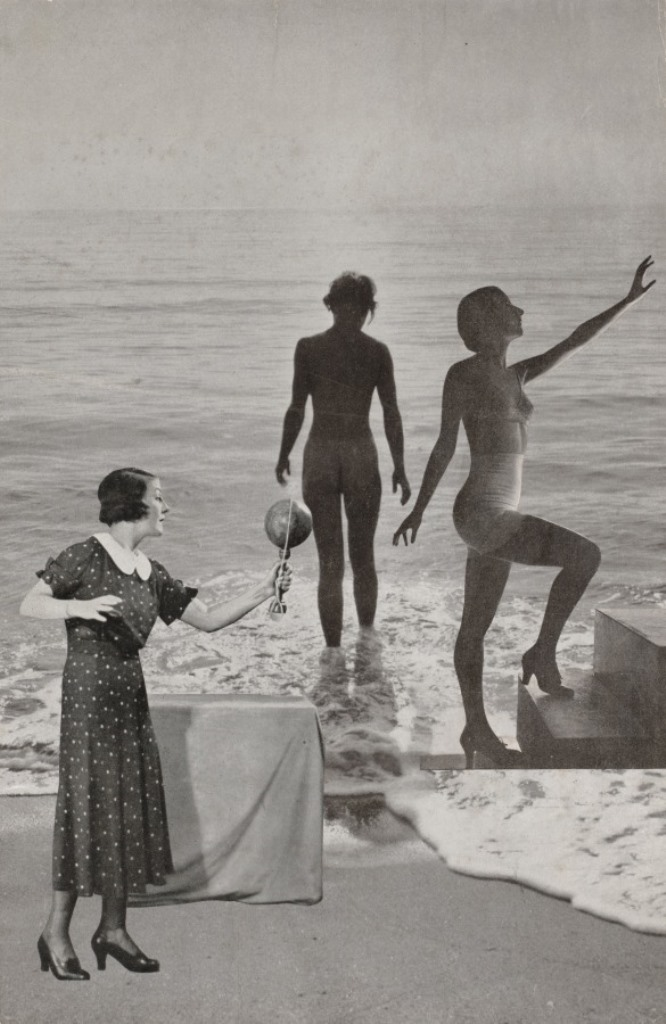 Georges Hugnet. Beach 1933-1936. Via clevelandart