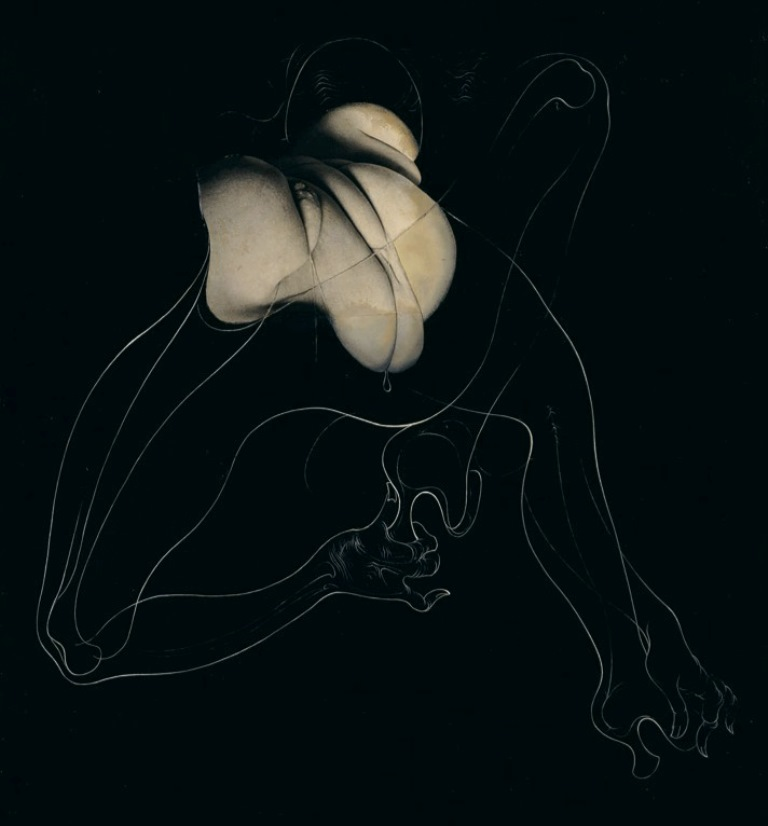Hans Bellmer. Bound. Unica Zürn 1959. Via magictransistor on tumblr