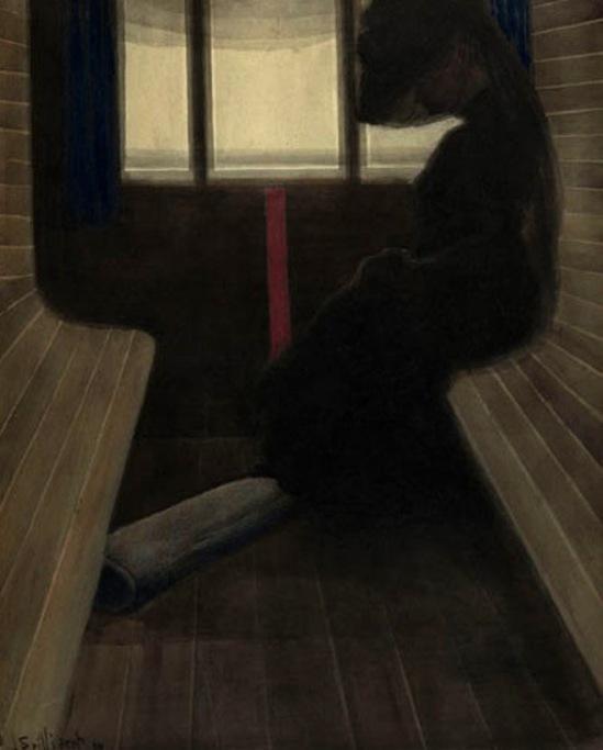 Léon Spilliaert. La femme dans le train