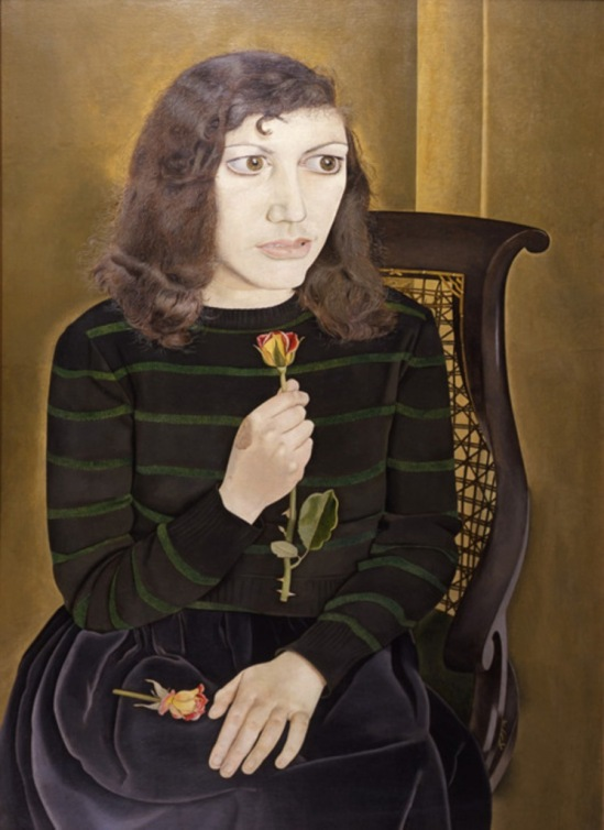 Lucian Freud. Girl with roses 1947-1948