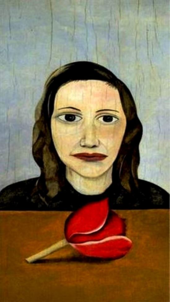 Lucian Freud. Woman with a tulip 1945