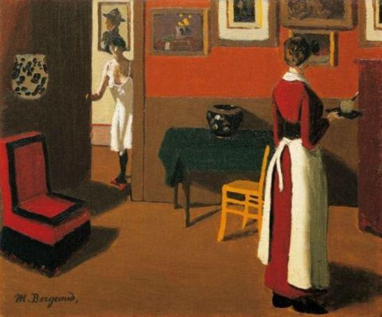 Marius Borgeaud. Intérieur parisien 1923