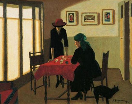 Marius Borgeaud. La tireuse de cartes 1919