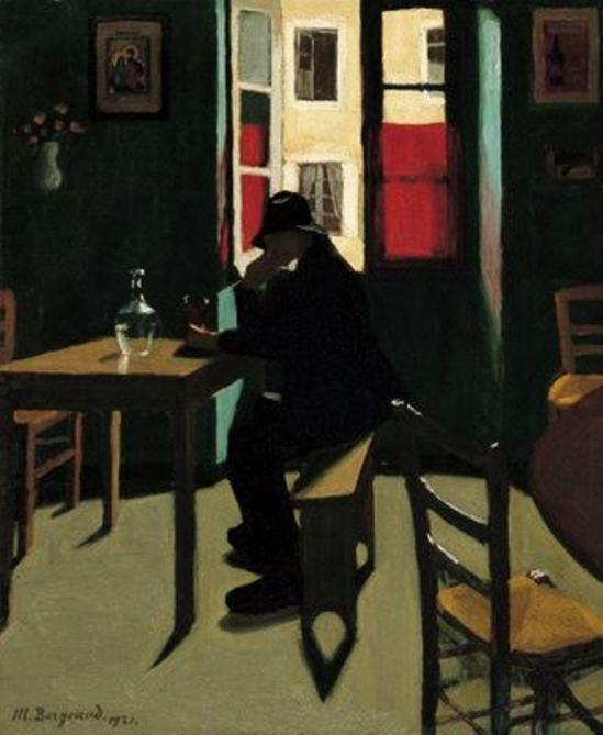 Marius Borgeaud. L'apéro de l'homme en bleu 1921