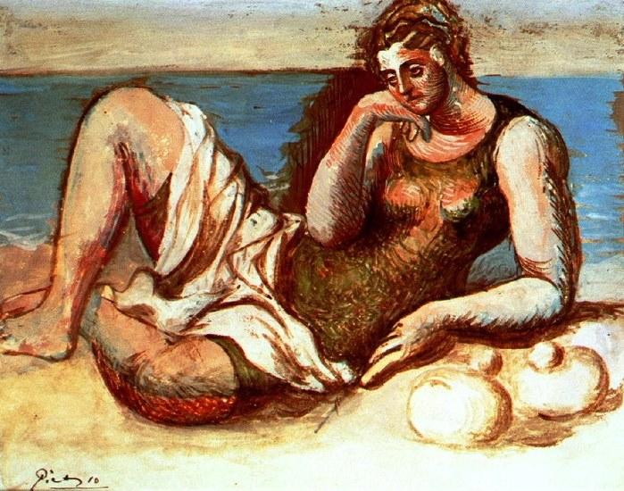 Pablo Picasso. Baigneuse 1908