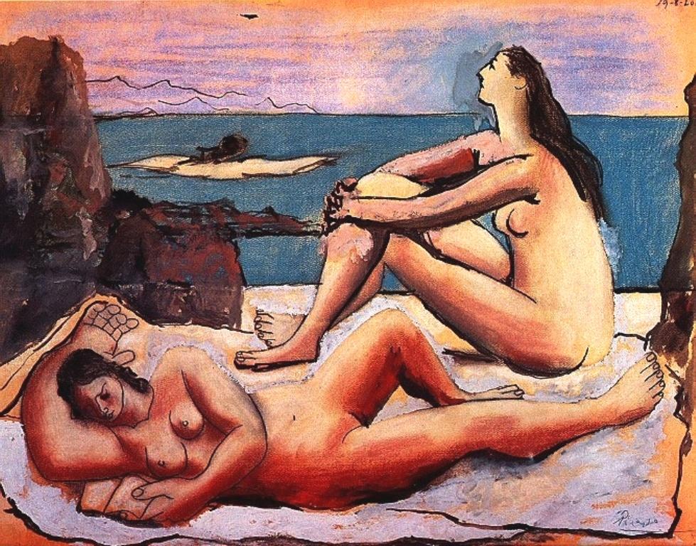 Pablo Picasso. Baigneuses 1920